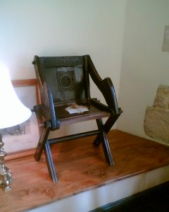 dark antique wooden chair