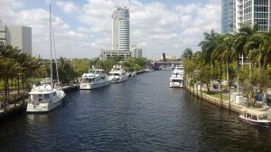 The New River in Fort Lauderdale Florida