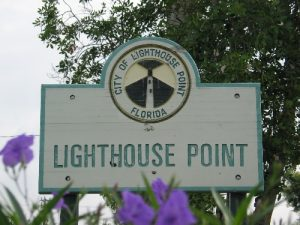 City Sign of Lighthouse Point