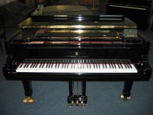 Grand piano black Hamburg Steinway