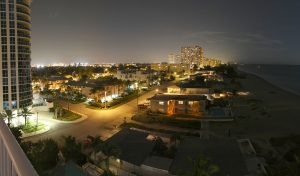 Downtown Pompano Beach At Night