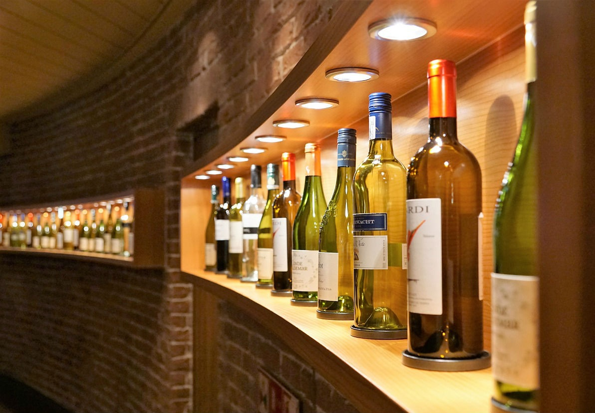 wine of shelves