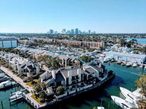 aerial shot of Fort Lauderdale waterways