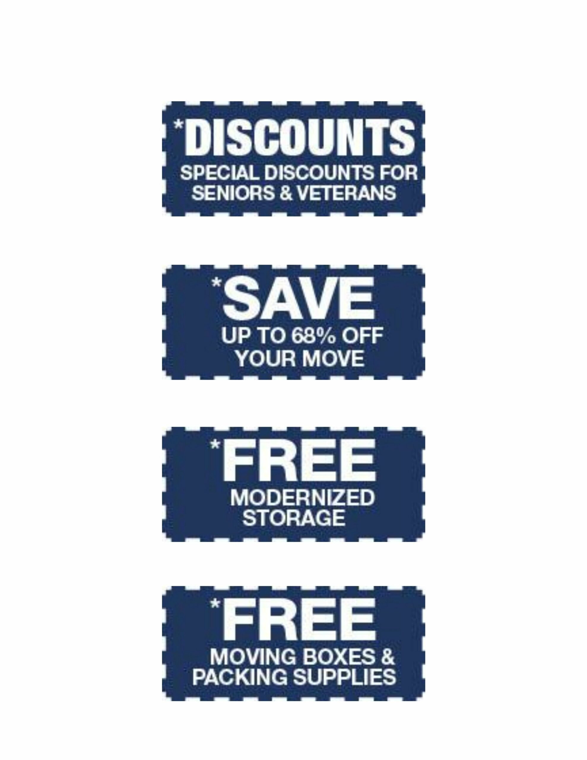 special offer coupons for moving customers