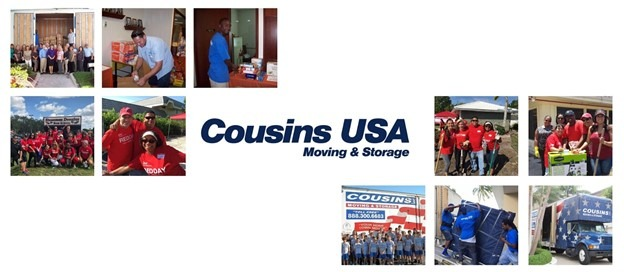 Text says Cousins USA Moving & Storage