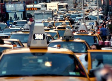 Taxis in Times Square