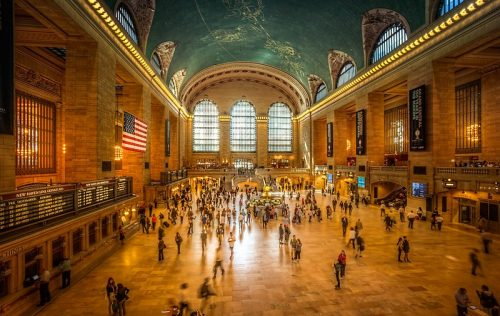 people in Grand Central station, New York